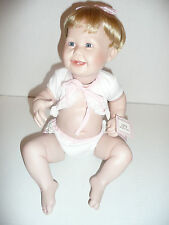 Ashton Drake Cute As A Button Collectible Porcelain Baby Doll