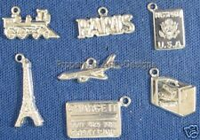 105pc S/S Plated Paris Vacation Travel Lot Charms 5666