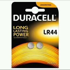 2 x Duracell LR44 Batería Alcalina A76 AG13 SR44 GPA76 (baterías)