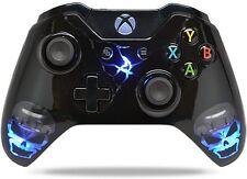 """Skulls Black"" Xbox One Custom UN-MODDED Controller Exclusive Illuminating"