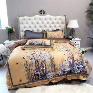 2021 Tree Branch Bird Vintage Quilt Cover Luxury 1000TC Egyptian Cotton Bedding