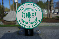 "US FOREST SERVICE Plate Topper HELP PREVENT FOREST FIRES 4 3/4"" H BY 3 3/4"" W"