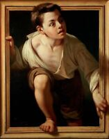 Escaping Criticism by Pere Borrell del Caso. Children Repro on Canvas or Paper