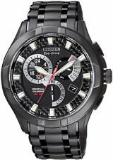 Citizen Eco-Drive Men's BL8097-52E Perpetual Black Ion Watch Retail $500