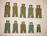 Chinese Ancient Bronze Shovel Spade Coin 新莽十布