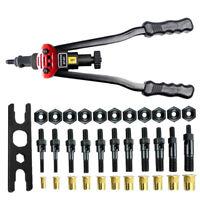 """Rivet Gun Kit Rivnut Setting Tools Nut Setter Tool Hand Blind Riveter Gun 16"""""""