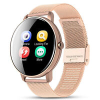Heart Rate Gold Monitor Sports Smart Watch Fitness Tracker For iOS Android