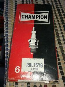 NOS   CHAMPION  RBL15Y6  RESISTOR SPARK PLUG    6 plugs