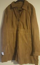 100% Genuine Leather coat in tan colour size 20