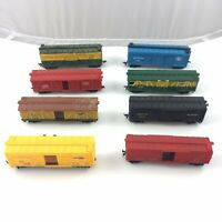 HO Scale Box Car Boxcar Freight Cars Mixed lines Lot of 8 Katy Great Northern