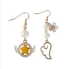Anime Card Captor Sakura Sakura Kinomoto Clow Key Wing Earrings Cosplay Jewelry