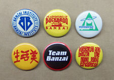 """Buckaroo Banzai 6 Logo Button Set 1.25"""" Repro HK Cavaliers, Yoyodyne, Institute"""