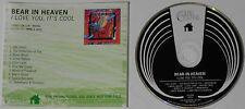 Bear In Heaven - I Love You, It's Cool - U.S. Promo CD