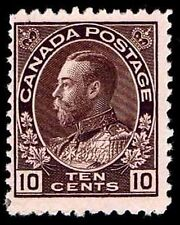 CANADA #116 .10c ADMIRAL OF THE NAVY ISSUE OF 1912 - OGPH - FINE - $275 (E#9671)