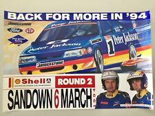 Peter Jackson Racing Sandown 1994 Large Poster