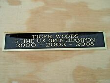 Tiger Woods 3X US Open Champion Nameplate For A Golf Ball Display Case 1.25 X 6