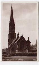 ST. GILES CHURCH, CHEADLE: Cheshire postcard (C7170).