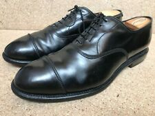 "Allen Edmonds ""PARK AVENUE"" Cap Shell Cordovan Oxfords Black Sz 10.5 E"
