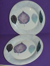 "2 x Portmeirion Dusk - 10.75"" Dinner Plates  VGC UK Made"