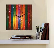 Creative Width Rainbow Shades 1 Wall Clock