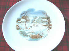 """Collectible Currier & Ives """" The Homestead in Winter """" 9 Inch Plate"""