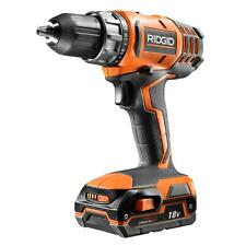 RIDGID 18-Volt Cordless Lithium-Ion 1/2 in. Compact Drill/Driver Kit R860052SBN