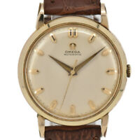 Auth OMEGA Gold Plated/Leather Cal.501 Automatic Men's Watch T#91058