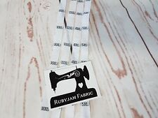 80 pack XXL 3XL 4XL 5XL  size clothing labels WHITE sew in woven tags FREE POST