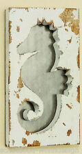 Objeto Para Pared Colgante de caballito mar metal decoración Cuadro madera
