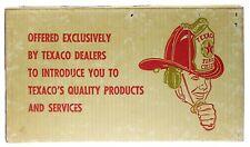 Vintage Texaco Gas Service Station Fire Chief Hat Helmet w/Box NOS Mint Works