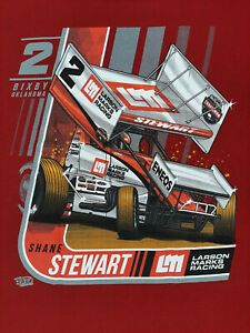SPRINT CAR -  SHANE STEWART - T-SHIRT - 2017 -  LARGE