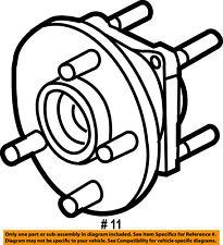 Jeep CHRYSLER OEM 05-10 Grand Cherokee Brake-Rear-Wheel Hub & Bearing 52111884AB