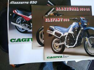 Cagiva Alazzurra  650 650SS & Elefant 650 Factory Brochures Ste OEM