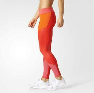 Womens adidas WOW Drop 1 Core Red Leggings (TGA50) RRP £64.99