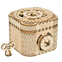 ROKR Treasure Box 3D Puzzle Mechanical Wooden Toy DIY Crafts Gift for Boy Men