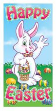 "Easter Door Decorations Front Decor Hang Bunny Greeters Happy Cover 30x60"" 40010"