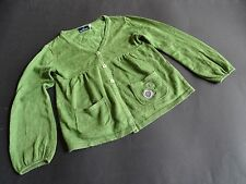 SERGENT MAJOR Tolle grüne Strickjacke mit Wolle Gr.4ans 104
