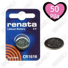 50 CR1616 Renata Batteria, Cella Singola,Pila al Litio 50 mAh 3V