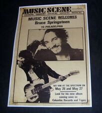 Bruce Springsteen  Vintage Concert Poster Philly 1978 A3 Size Repro