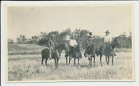 Cowboys on Horses Real photo postcard RPPC - Divided back AZO