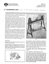 "Delta Rockwell 12"" Woodworking Lathe Instructions"