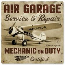 "Lockheed Vega ""Air Garage"" Metal Sign, Vintage Style Aviation  SIG-0154"