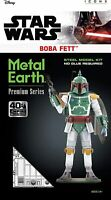 Fascinations ICONX Premium Series Star Wars BOBA FETT 3D Metal Earth Model Kit