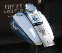Harley Davidson Leather Fuel Gas Tank Panel Bib Fat Boy Softail V-Twin Custom