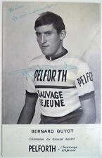 BERNARD GUYOT francese CICLISTA VINTAGE Autografo cartolina