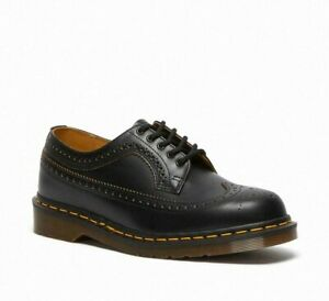 Comme Des Garcons & Dr Martens 3989 Made In England Black Brogue Leather Shoes