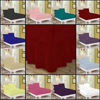 Plain Dyed Poly- Cotton Flat sheet Valance Sheet Fitted Bed Sheet All Size
