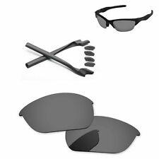 Серый комплект + черный иридий поляризовать сменные линзы для Oakley Half Jacket 2.0
