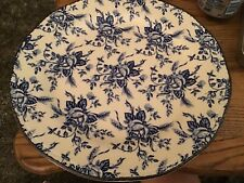 "Wood & Sons Country Rose 11"" Plate Blue White"