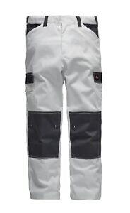 Dickies ED247 Everyday White/Grey Painters Decorators Work Cargo Combat Trousers